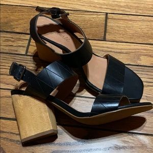 FIRM MADEWELL Karina Leather-Wooden  Sandal
